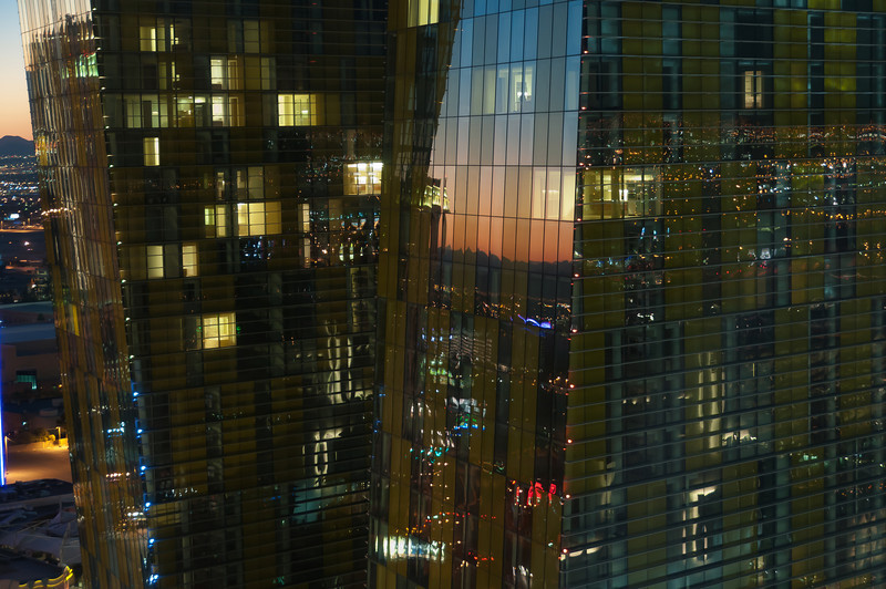 Close-up of Veer Towers in Las Vegas, Nevada