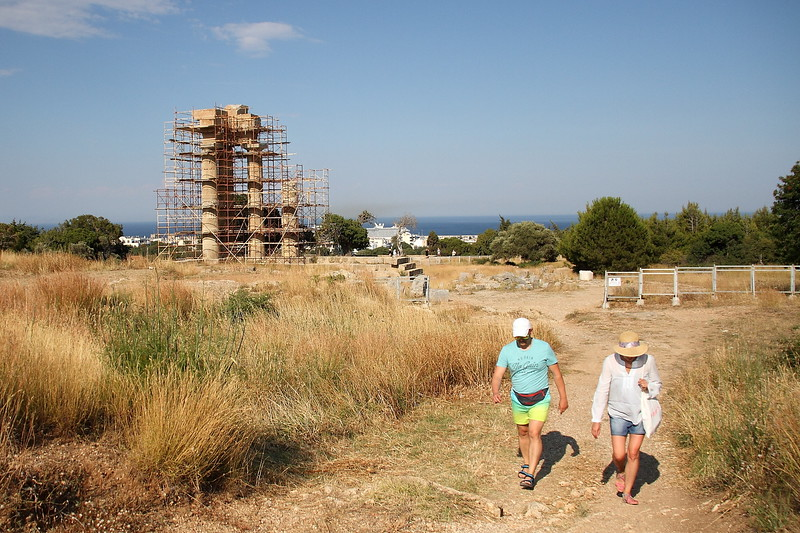 A 30 minute walk from the conference venue was the Acropolis of Rhodes, which dates back to the 3rd-5th century BC.  What you see here is a partially reconstructed Temple of Apollo.  Actually, what you mostly see is scaffolding around the partially-reconstructed Temple of Apollo...  which is somewhat unfortunate, but not surprising given that most of the Acropolis in Athens is also covered by scaffolding.