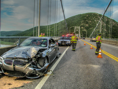 7-18-14 MVA With injuries, Bear Mountain Bridge
