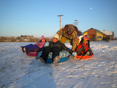 Sledding - December - 2012