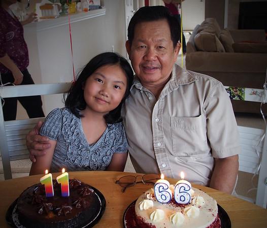 Amy and Grandpa's Birthday