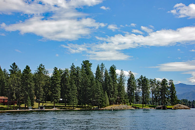 Pontooning on Lake Pend Oreille