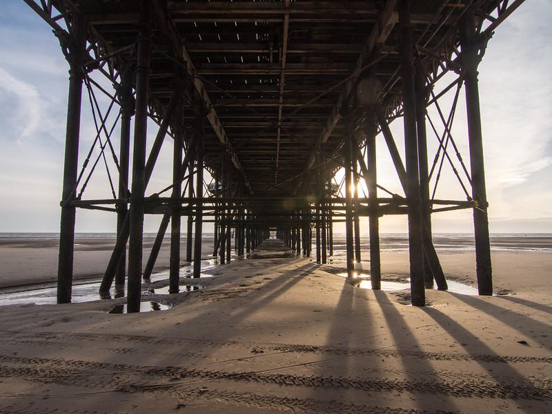 Under Blackpool Pier