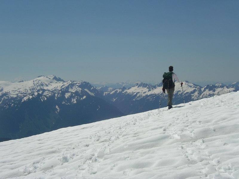 We can see Glacier Peak back there.