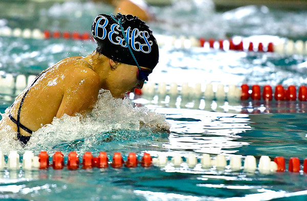 9/25/2018 Mike Orazzi | Staff Bristol Eastern's Brianna Ogonowski during Tuesday's swim meet with Windsor in Bristol.
