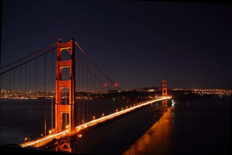 Golden Gate Bridge at Night  © 2007 Brian Neal