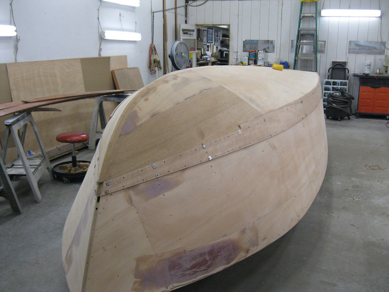 Starboard front plank fit.