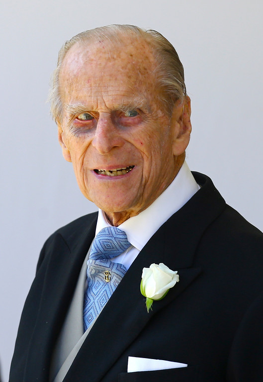 . Britain\'s Prince Philip leaves St George\'s Chapel at Windsor Castle after the wedding of Meghan Markle and Prince Harry  in Windsor, near London, England, Saturday, May 19, 2018. (Gareth Fuller/pool photo via AP)