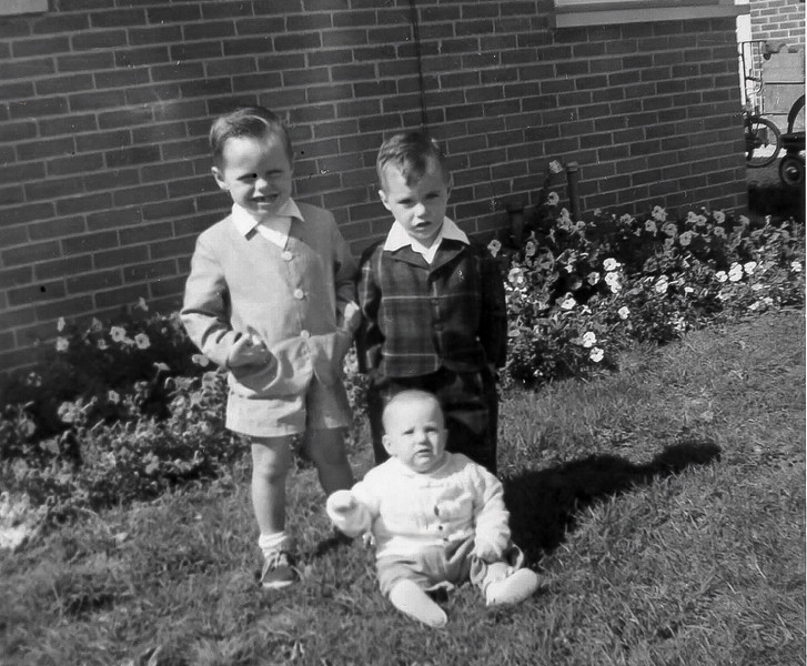 Bill, Mike and Jim O'Callahan September 1956 Des Plaines, Illinois