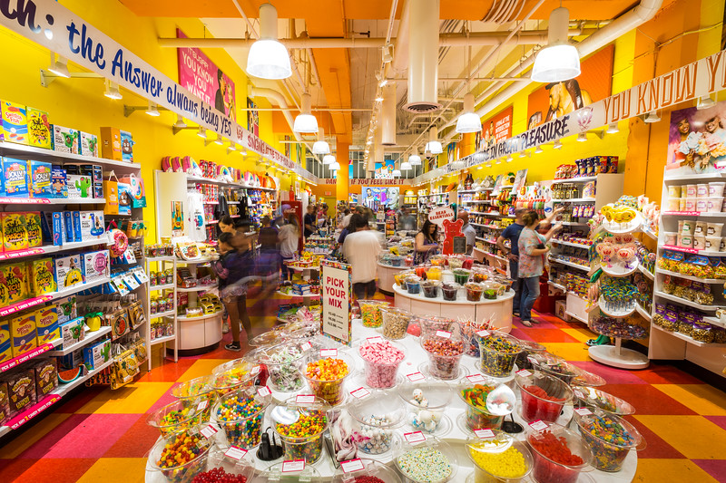 Inside the candy store