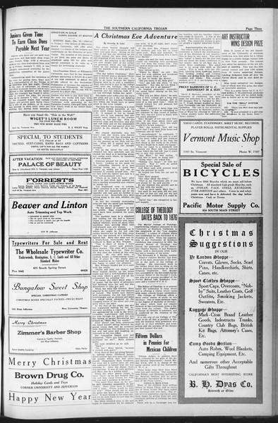 The Southern California Trojan, Vol. 12, No. 46, December 18, 1920