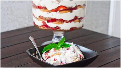 cách làm pudding dâu tây 7