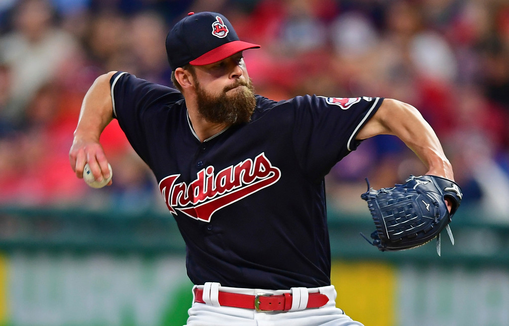 . Cleveland Indians starting pitcher Corey Kluber delivers in the sixth inning of a baseball game against the Houston Astros, Friday, May 25, 2018, in Cleveland. (AP Photo/David Dermer)