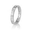 3.00ctw Carre Cut Diamond Eternity Band, in Platinum 1