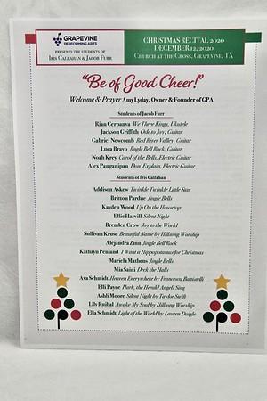 12-12-2020 Iris Callahan & Jacob Furr Students @ GPA Recital