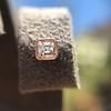 .52ctw Asscher Cut Diamond Bezel Stud Earrings, 18kt Rose Gold 9
