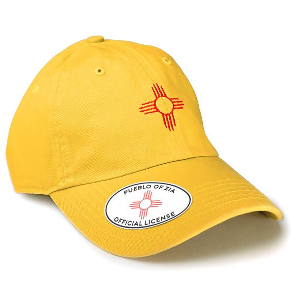 Outdoor Apparel - Organ Mountain Outfitters - Hat - Zia Sun Symbol Dad Cap Yellow.jpg