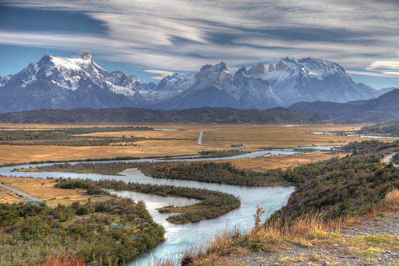 Rio Serrano, Torres del Paine National Park, Chile. (HDR)