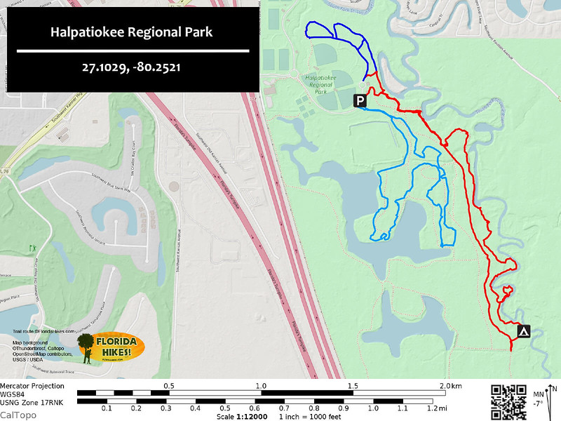 Halpatiokee Regional Park Trail Map