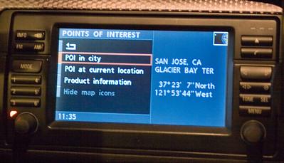 BMW Navigation menus hacked