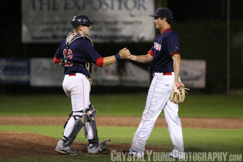 Kitchener Panthers at Brantford Red Sox IBL Playoffs, Semifinals Game 1 August 12,  2012