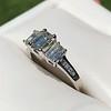 1.15ctw Emerald Cut Diamond Trilogy Ring 23