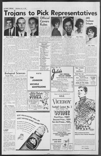 Daily Trojan, Vol. 54, No. 13, October 10, 1962