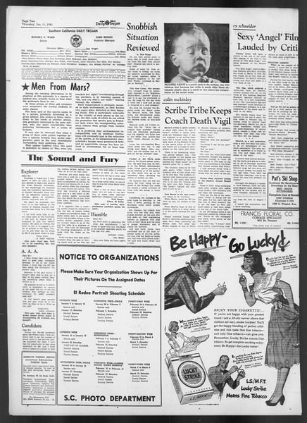 Daily Trojan, Vol. 42, No. 67, January 11, 1951