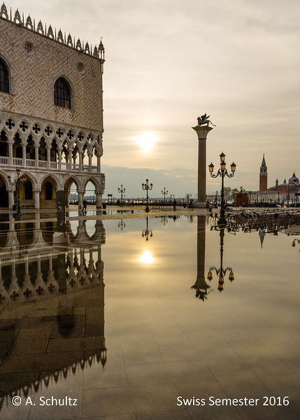 Palazzo Ducale as reflected in the Aqua Alta