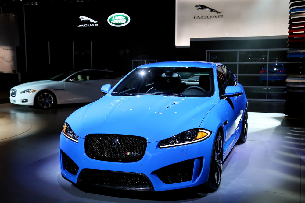 . LOS ANGELES, CA - NOVEMBER 28:  The high performance XFR-S on display at the Jaguar Land Rover stand at the LA Auto Show on November 28, 2012 in Los Angeles, California.  (Photo by Neilson Barnard/Getty Images for Jaguar Land Rover)