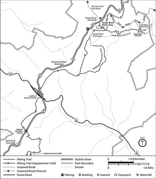 Shenandoah National Park (Trails - South River Area)