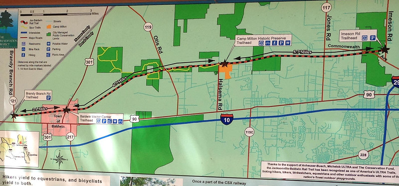 Jacksonville-Baldwin Rail Trail Map