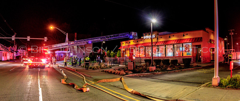 Commercial Structure Fire - Popeyes Restaurant - Haight Ave.- Arlington Fire District -4/22/2020
