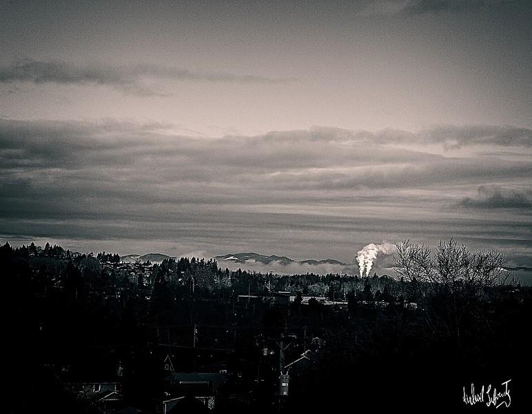 valley sunrise on a grey day b&w 2020 copy