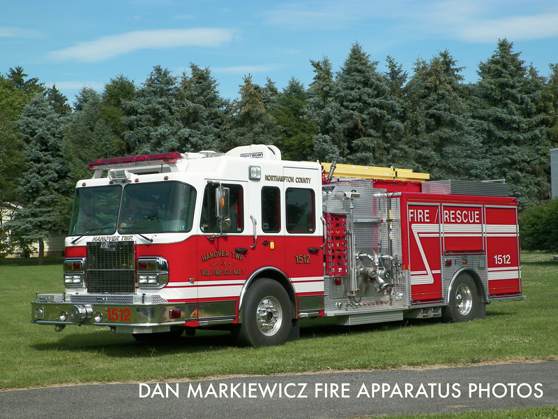 HANOVER TOWNSHIP VOLUNTEER FIRE CO. ENGINE 1512 2007 SPARTAN/MARION PUMPER