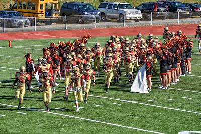 Mt Olive HS Varsity Football against Mendham HS - Oct 31, 2015