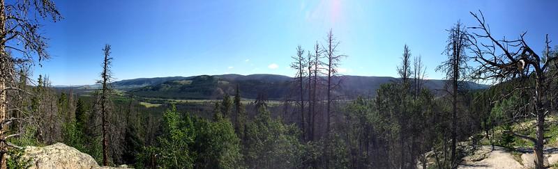 Looking towards Laramie River Valley