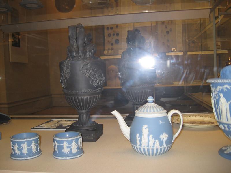 Dancing Hour salts 1786-11795; Teapol late 18tu century; black basalt ewers 1775-1780