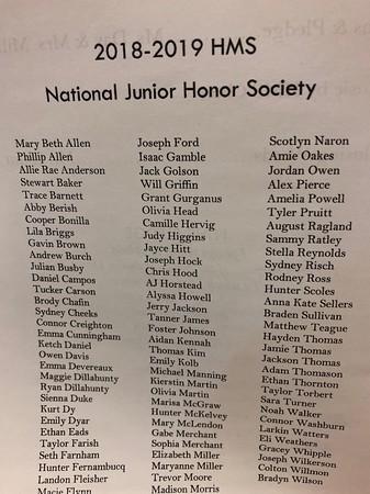 National Jr Honor Society