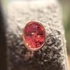 .79ctw Oval Padparadscha Sapphire Bezel Stud Earrings 3