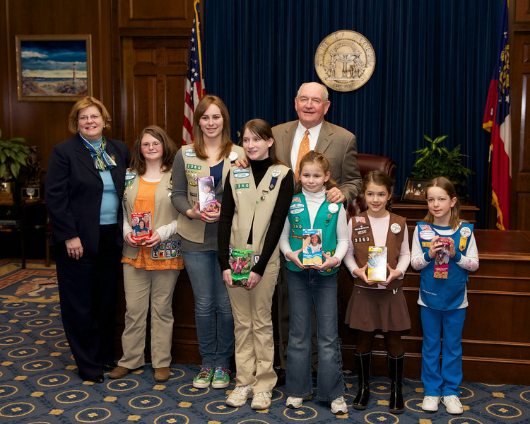 With GA Governor Sonny Perdue, Feb 18, 2010