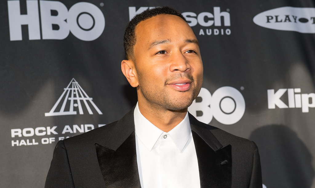 . John Legend on the red carpet prior to the 2015 Rock And Roll Hall Of Fame Induction Ceremony at Public Hall on Saturday, April 18, 2015, in Cleveland, Ohio. (Photo by Jason Miller/Invision/AP)