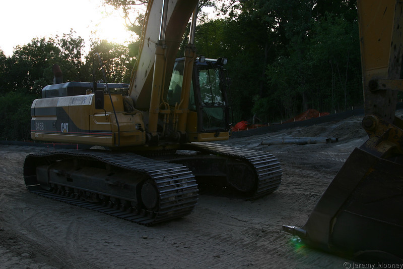 One of the large backhoes