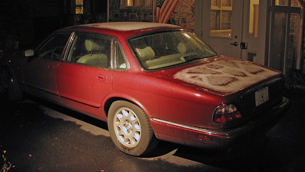 November 28, 2009:  Took the Jag home to Altoona .  .  .