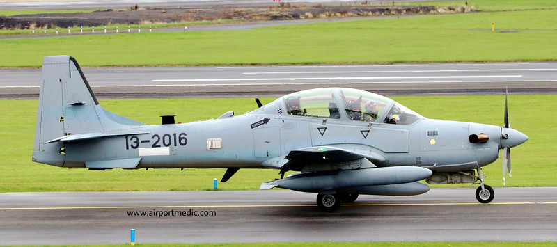 13-2016 Tucano A-29 Afgan Air Force @ Prestwick Airport (EGPK)
