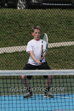 JV BOYS TENNIS VS CALVARY  04-04-14