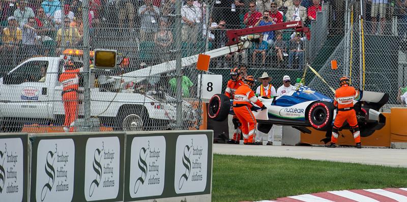 De Silvestro's Indy Car Towed
