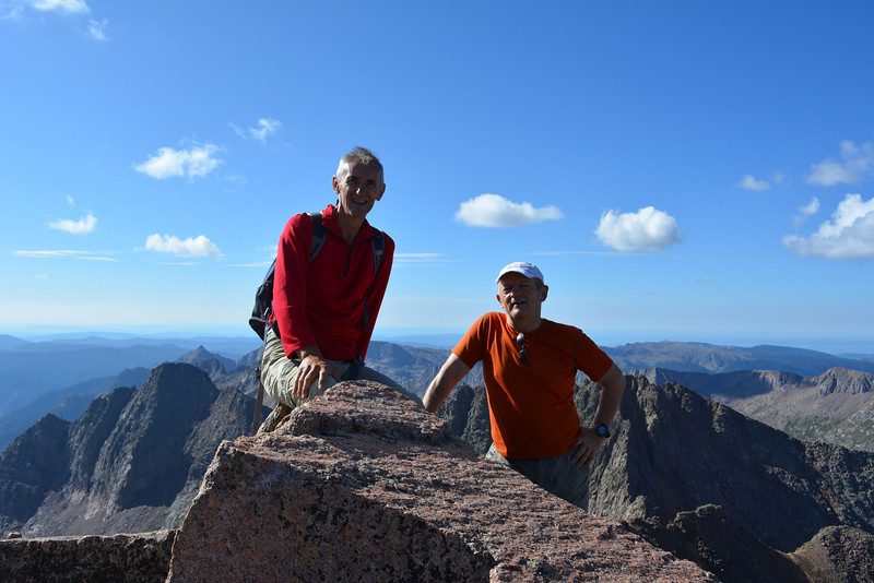 With Ramiz at Windom Peak (14,082ft = 4.292m).