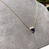 1.32ct Vintage Sapphire Bezel Necklace 12