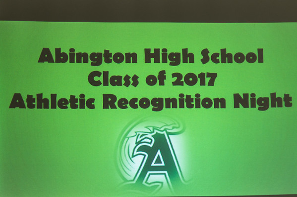 2017 Athletic Recognition Night